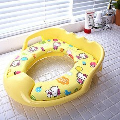 Hello Kitty Potty Chair Portable Rocking Toilet Training Board Soft Seat Yellow