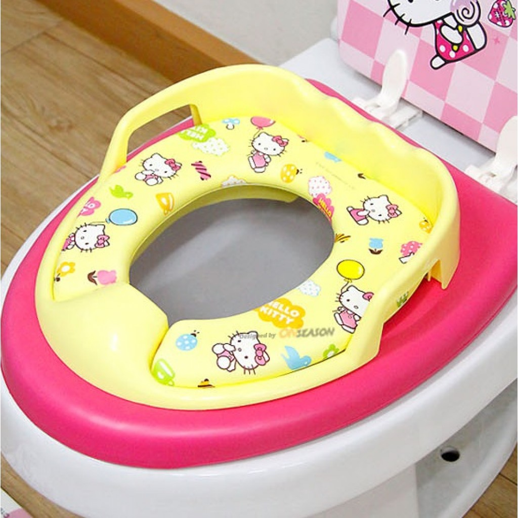 hello kitty potty chair italian leather chairs toilet training board soft seat yellow