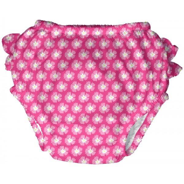 iPlay - Ultimate Swim Diaper - Hot Pink Geo Aster - Size XL (24m) - BabyOnline