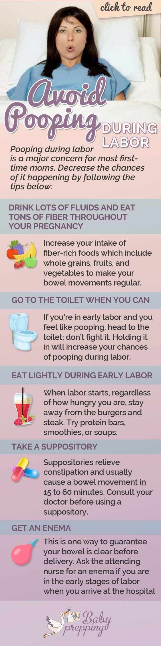 5 Tips to Avoid Pooping during Labor   Babyprepping.com
