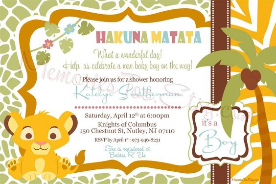 Baby Shower Invitations Lion King