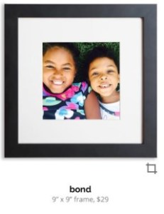photo of two kids in a frame