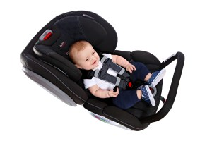 car seat with anti-rebound bar
