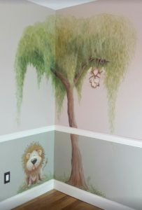 cutesy mural--nursery