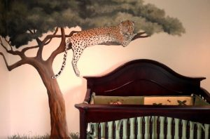 jungle mural for the nursery