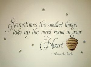 Nursery quote mural by Annette Dostaler
