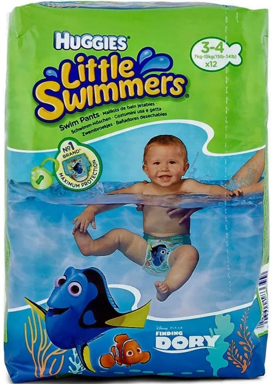Huggies Little Swim Diapers, Small 7-15kg, 01-Count