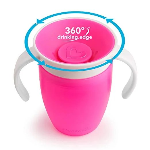 Munchkin Miracle 360 Trainer Cup, Pink, 7 Ounce