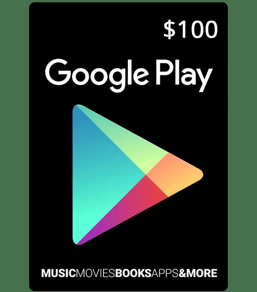 Google Play Gift Code $100 US