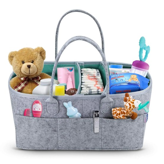 Baby Diaper Caddy Organizer – Portable Storage Basket