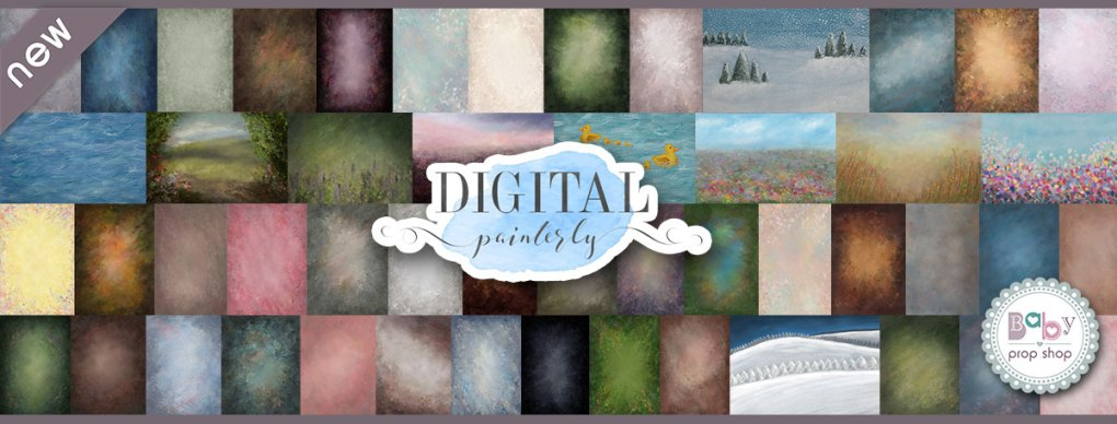 Digital Painterly Printed Backdrops