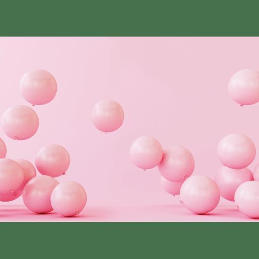 Pink Balloon Cake Smash Photography Backdrop