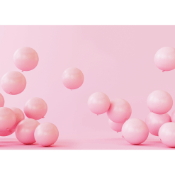 Pink Balloon Cake Smash Photography Backdrop