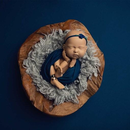 Blue Newborn Photography Fabric Backdrop