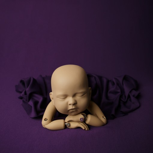 Purple Newborn Photography Fabric