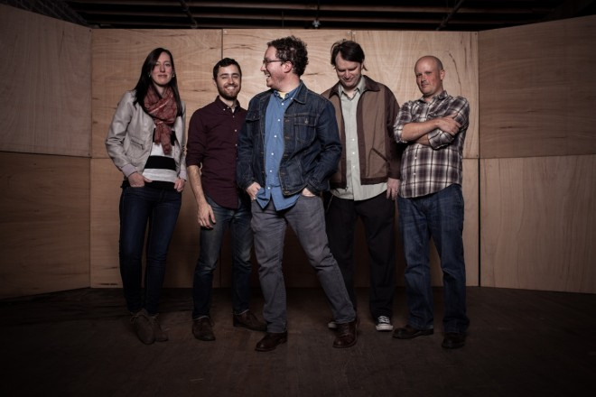 Book Club press photo One-Way Moon Folk, Indie, Country Robbie Horlick, Rachel Buckley, Matt Jarrard, Todd Kerstetter, Gus Fernandez baby robot media cmj you say it so glacial premiere