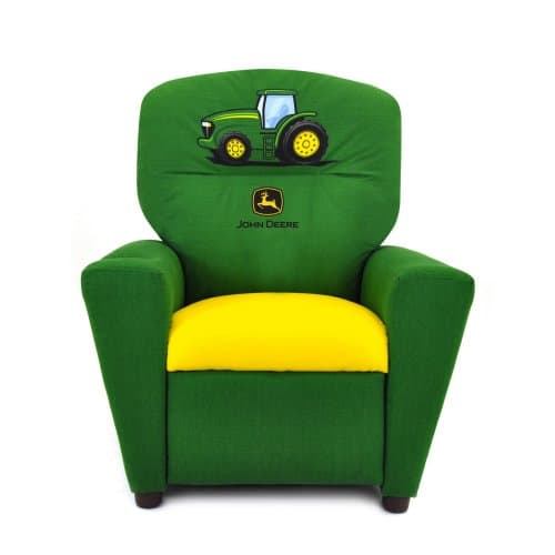 kid recliner chair swivel staples save 55 on the kidz world john deere green s plus free children furniture deals