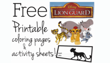 Printable Coloring Sheet Lion King Coloring Pages