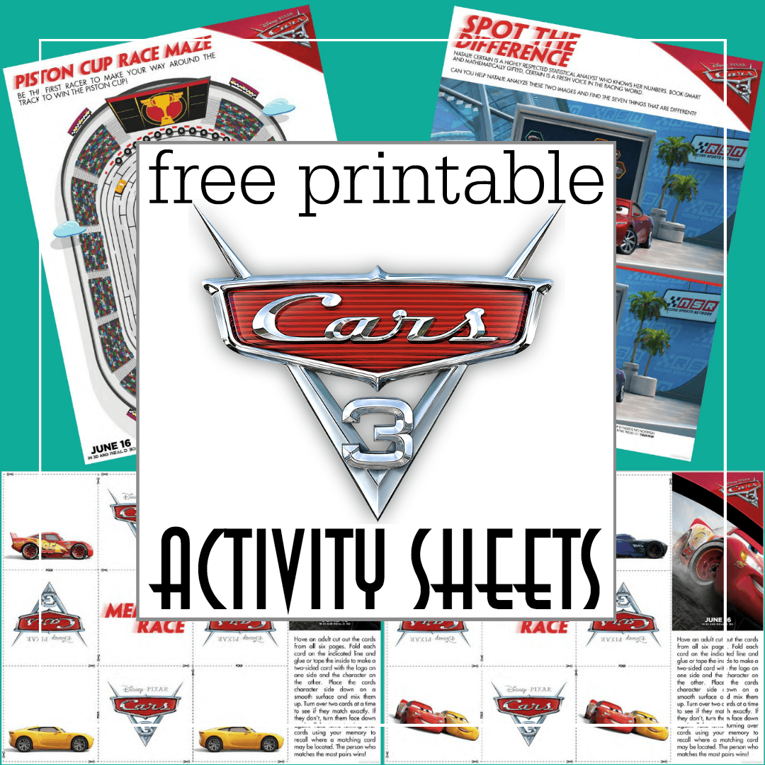 Free Printable Cars 3 Activity Sheets And A New Cars 3 Trailer
