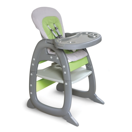 green high chair chairs folding target with play table conversion gray and