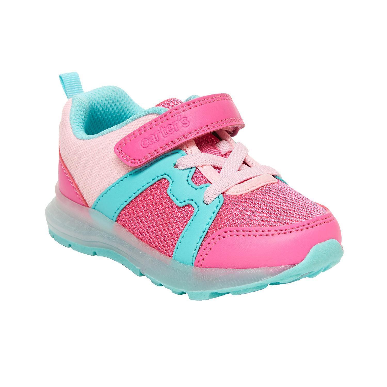 BabyShopHK. *貨品已截單* A P4U 10中: Carter's Brixton 大童發光運動鞋 粉配綠