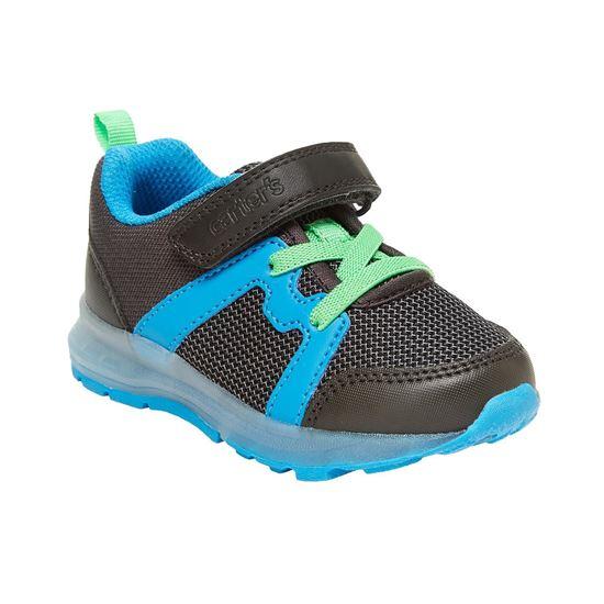 BabyShopHK. *貨品已截單* A P4U 10中: Carter's Brixton 大童發光運動鞋 藍配綠