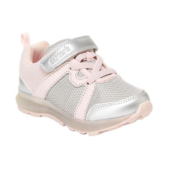 BabyShopHK. *貨品已截單* A P4U 10中: Carter's Brixton 大童發光運動鞋 粉配銀