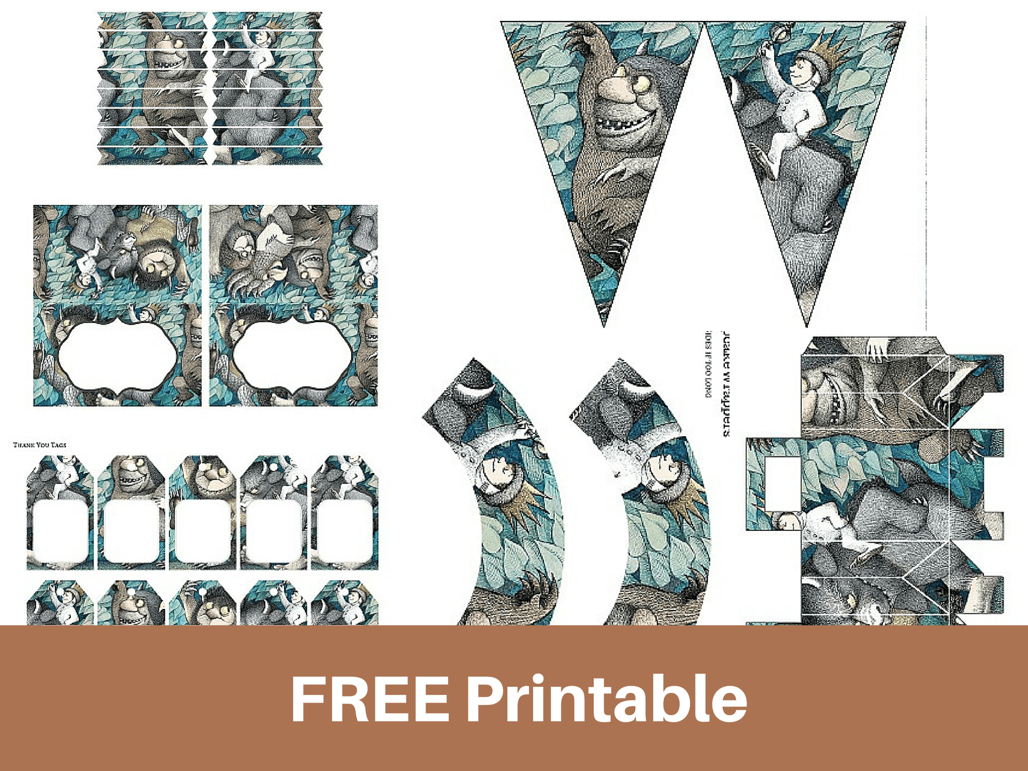 Free Printable Where The Wild Things Are Baby Shower