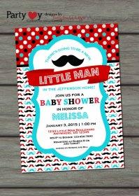 Little Man Baby Shower, Mustache Baby Shower, Mustache ...