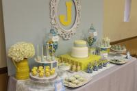 Gray Blue Yellow Baby Shower - Baby Shower Ideas - Themes ...
