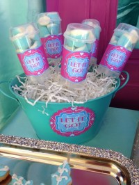 frozen movie birthday party, snowflakes toppers, loveis an ...
