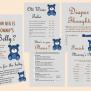 Teddy Bear Baby Shower Games Printables Baby Boy Tlc33