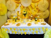 Bright Yellow Giraffe Baby Shower Ideas