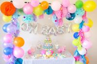 oh baby colorful baby shower decorations, gender neutral ...