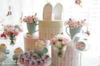 Vintage Pastel Baby Christening - Baby Shower Ideas ...