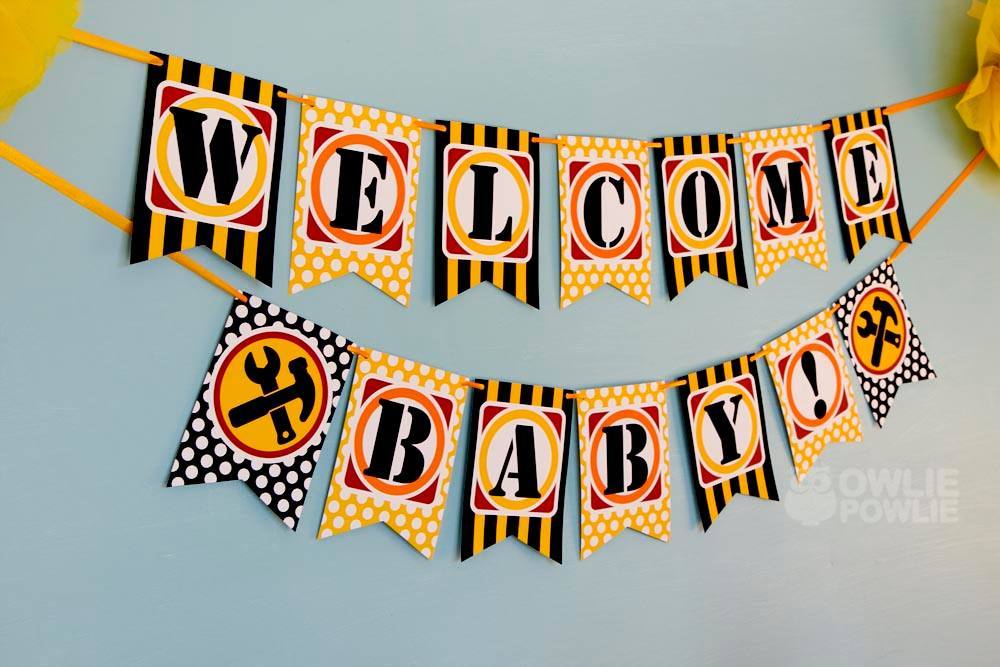 Baby Under Construction Baby Shower  Baby Shower Ideas  Themes  Games