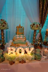 Golden Glamorous Prince Baby Shower - Baby Shower Ideas ...