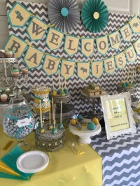 Chevron Elephant Baby Shower - Baby Shower Ideas - Themes ...