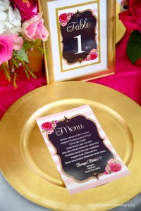 Pink And Black Floral Baby Shower - Baby Shower Ideas ...
