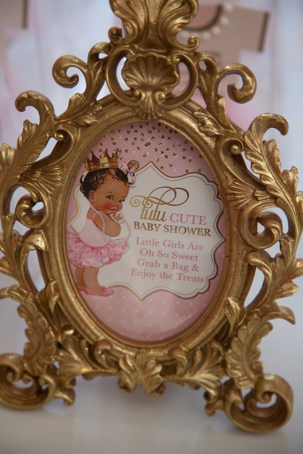 Pink and Gold Tutu Cute Baby Shower  Baby Shower Ideas  Themes  Games