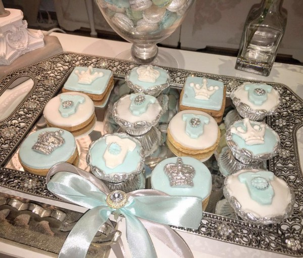 Charming Silver Blue Sky Baby Shower  Baby Shower Ideas  Themes  Games