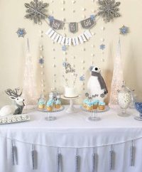 Silver And White Snowy Baby Shower - Baby Shower Ideas ...