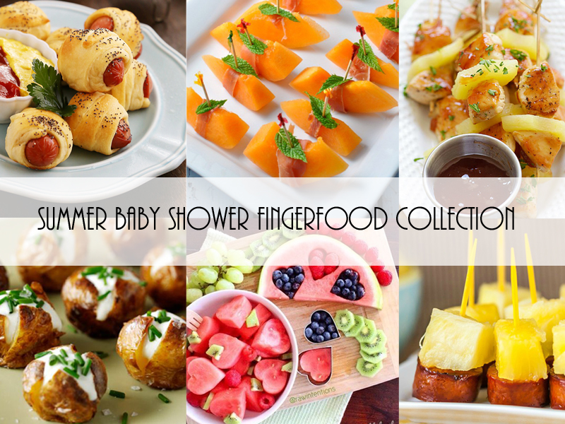 Summer Baby Shower Finger Food Collection