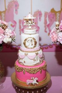 Carousel In Pink Baby Shower - Baby Shower Ideas - Themes ...
