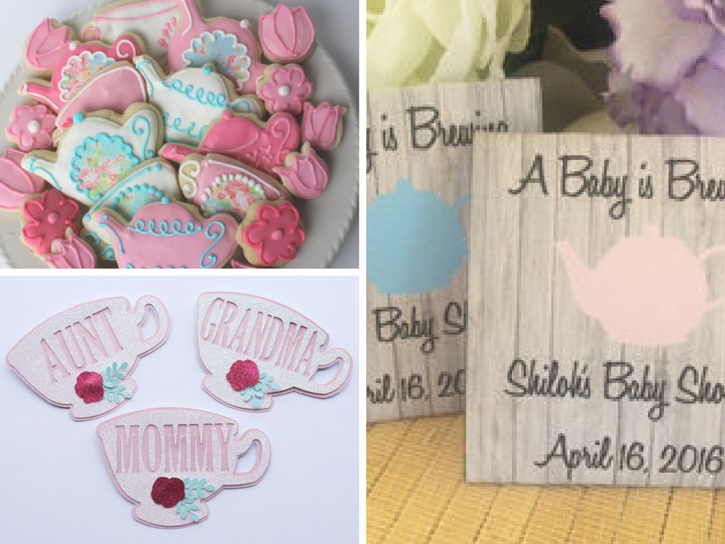 Tea Party Baby Shower Decorations and Party Favors