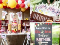 Backyard BBQ Baby Shower - Baby Shower Ideas - Themes - Games
