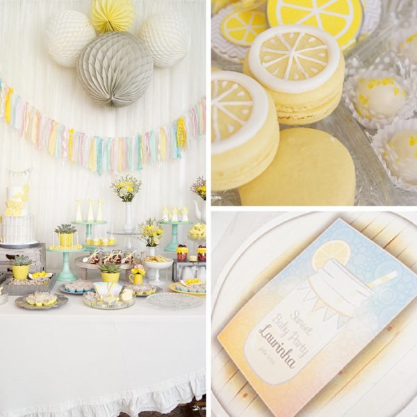 Lemon Yellow Baby Shower Decorations and Party Favors