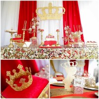 Red and Gold Royal Affair Baby Shower - Baby Shower Ideas ...