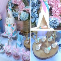 Boho Gender Reveal Party - Baby Shower Ideas - Themes - Games