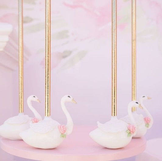 Pink Swan Party  Baby Shower Ideas  Themes  Games